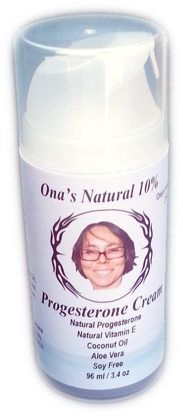 ONA'S Natural Concentrated 10% Progesterone Cream - 3.4 Oz. Pump