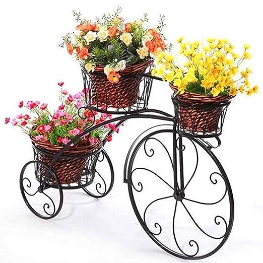 PequeñO JardíN De Flores Artificiales Bicicleta Hecha A Mano En ...