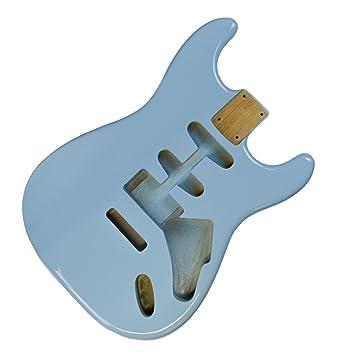 Daphne - Cuerpo para guitarra eléctrica HSS Stratocaster (2 piezas), color azul: Amazon.es: Instrumentos musicales