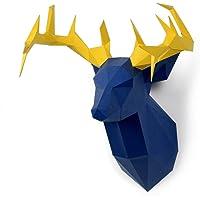 Timorn Fai da te Pre-cut Papercraft Kit di Montaggio 3D Wall Grizzly Bear Head Trophy