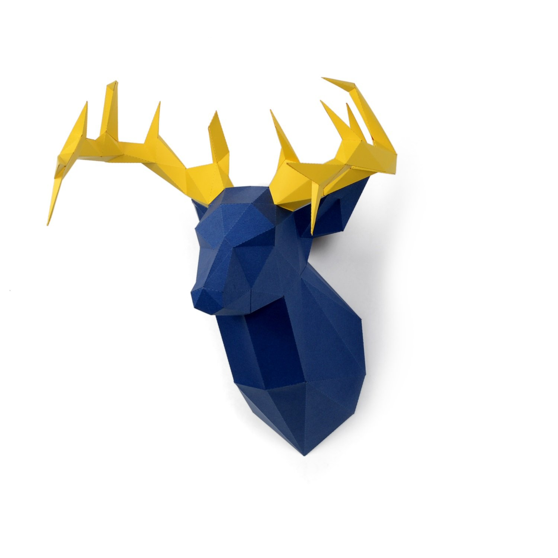 Timorn DIY Pre-Cut Papercraft Assembly Kit 3D Wall Deer Head Trophy (Deer)