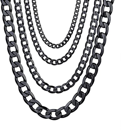 2-9mm Men Womens 316L Stainless Steel Silver Twist Curb Chain Necklace Gift