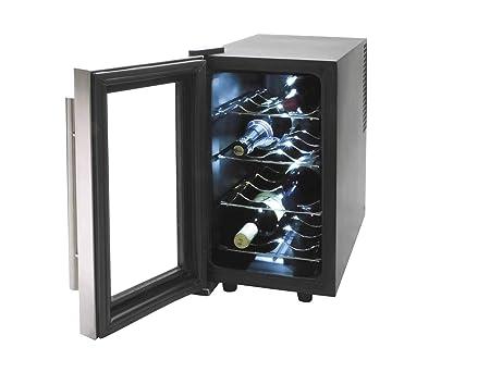 Lacor - 69078 - Armario refrigerador 8 Botellas Inox Line 70w ...