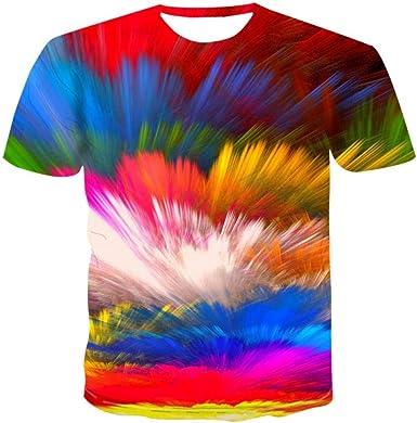 Luotears Camisa 3DT de Verano para Hombres Camiseta con ...