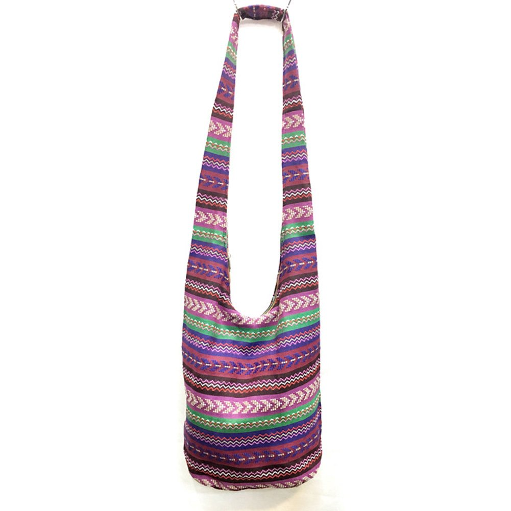 KARRESLY Bohemian Cotton Hippie Crossbody Bag Hobo Sling Bag Handmade Messenger Shoulder Bags(5-913)