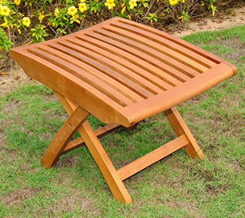 (International Caravan Balau Wood Patio Folding Foot Rest )