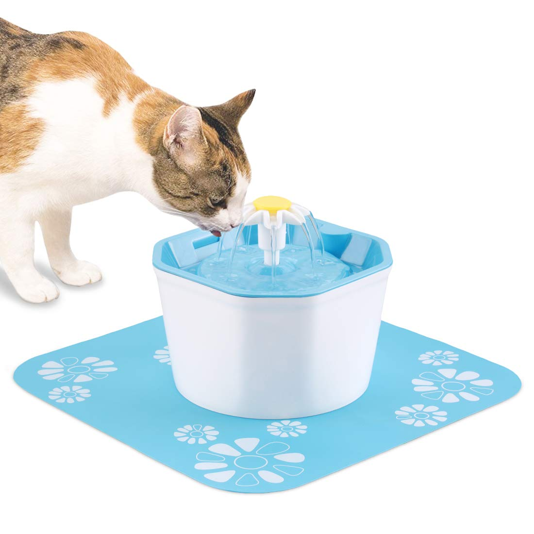 Shinea Cat Water Fountain, 1.6L Automatic Pet Water Dispenser Healthy & Hygienic Drinking Bowl Super Quiet for Cats, Dogs, Multiple Pets