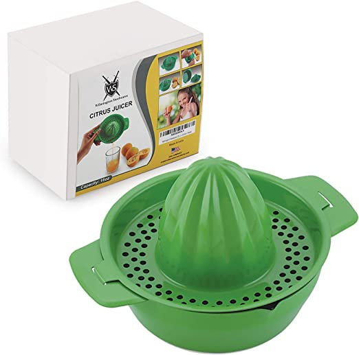 Apple Green 0.5 L//17 ounce capacity Westmark 3091227A Limetta Manual Citrus Press Juicer with Strainer and Bowl Non-Slip