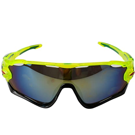 fb718525de7 Fluorescent green-Gold   A-szcxtop Colorful Windproof Riding Sunglasses  Cycling Goggles Bicycle Glasses Ourdoor Sport Unisex Sunglasses Eyewear   Amazon.in  ...