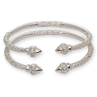 silver addiction lotus bangles bangle bali swirling bracelet eve s bracelets