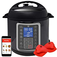 Mealthy MultiPot 9-in-1 Programmable Electric Pressure Cooker with Stainless Steel Pot, Steamer Basket and Instant Access to Mealthy Recipe App. Pressure Cook, Slow Cook, Saute & More (6 litres)