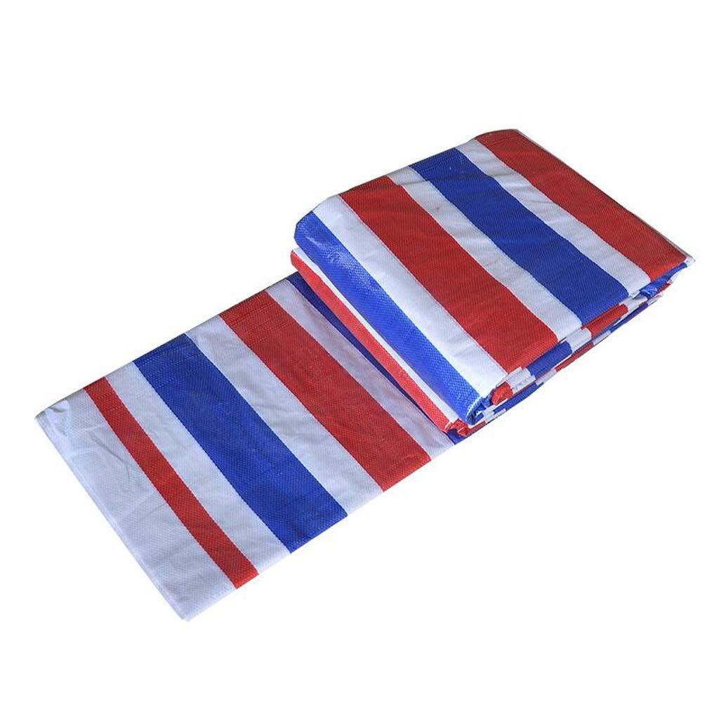 Plane Blaumen-Poncho-Farben-Streifen-Stoff DREI-Farben-Stoff-Blaumen-Band-PlastikBlaumen wasserdichter Stoff Schatten-Stoff im Freien Lostgaming
