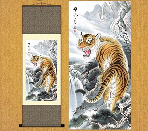 Sunmir (TM Silk Scroll Painting Majestic Tiger