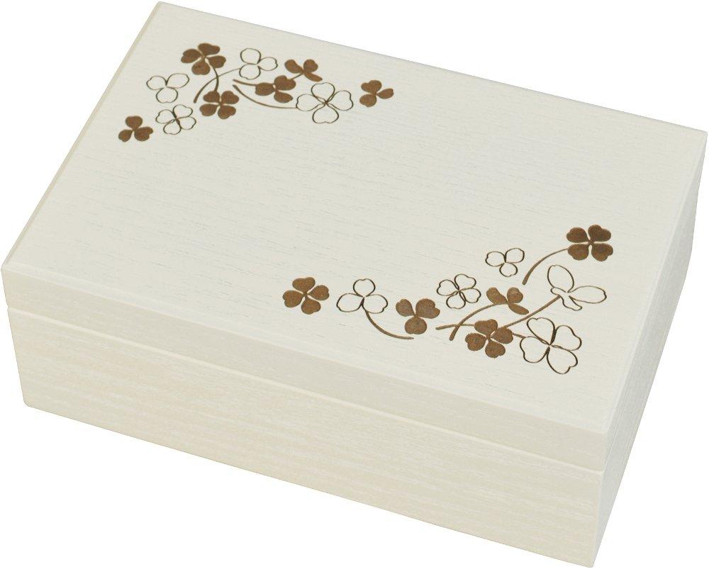 gentie shoukai Co., Ltd. Caja de música para joyería con Tapa Interior para Marco de Fotos, Reproduce Cuando deseas una Estrella, Color Marfil