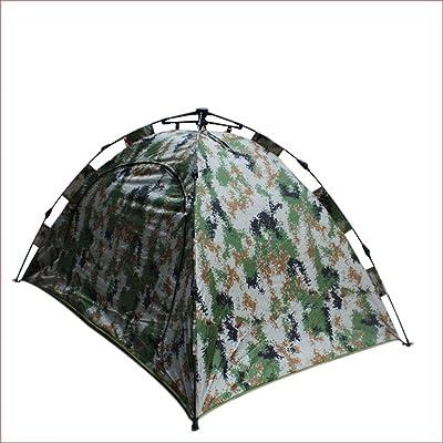 TY&WJ Tente De Camping,Tentes Dôme Tente De Camouflage Randonnée Activités De Plein Air Barbecue Et Grill Coton Tente 4 Saisons Double Couche Tente D'urgence 2 Personne