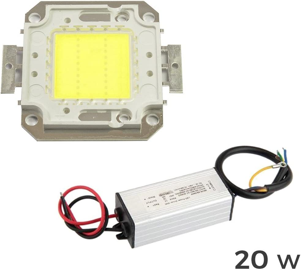 mws Kit Piastra LED Driver Alimentatore fari Luce Fredda 6500k da 20watt