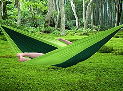 FiveJoy Parachute Hammock with Built-in Travel Bag - Lightweight, Portable and Super Strong - Hold up to 500lb - Great for Camping, Hiking, Backpacking