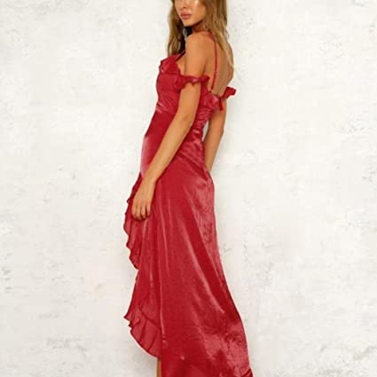 Lolittas Summer Evening Wedding Maxi Dresses for Women,Red Sexy Vintage Skater Cocktail Prom Bandeau Off Shoulder Tunic Ruffles Bodycon A-Line Swing Elegant ...