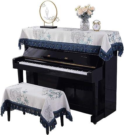 Zhengowen Piano Cubierta Cubre Teclado Piano Toalla Tamaños ...