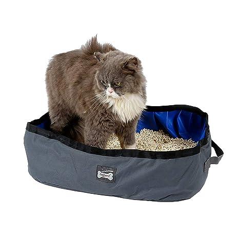 Doglemi WiseGoods - Arenero portátil para Gatos (Plegable, Ligero, para Mascotas, arenero