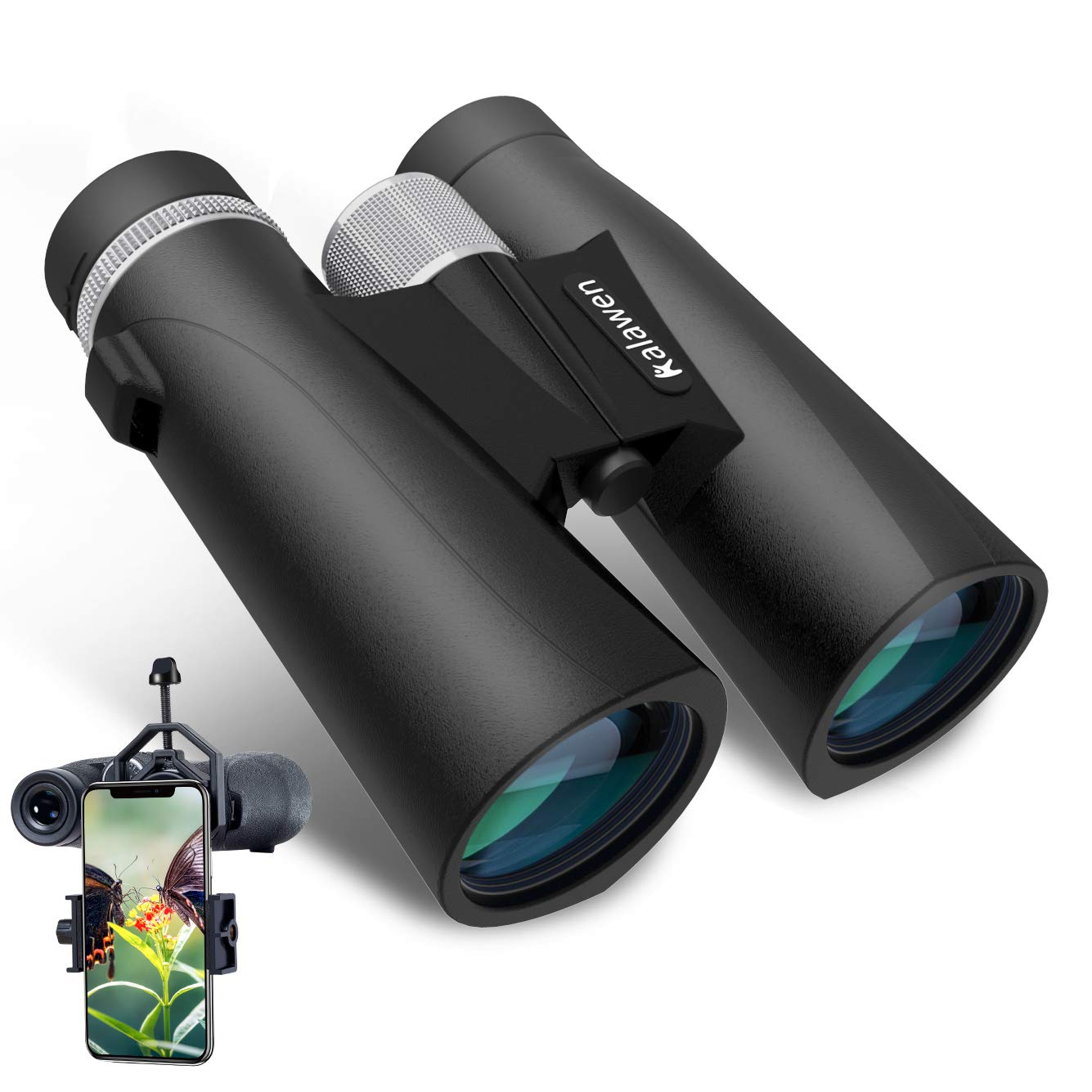 2019 Upgraded Binoculars with Night Vision Low Kalawen 10×42 Binoculars for Adults Compact Waterproof Fogproof Binoculars for Bird Watching Concert Theater Opera Stargazing Hunting Traveling