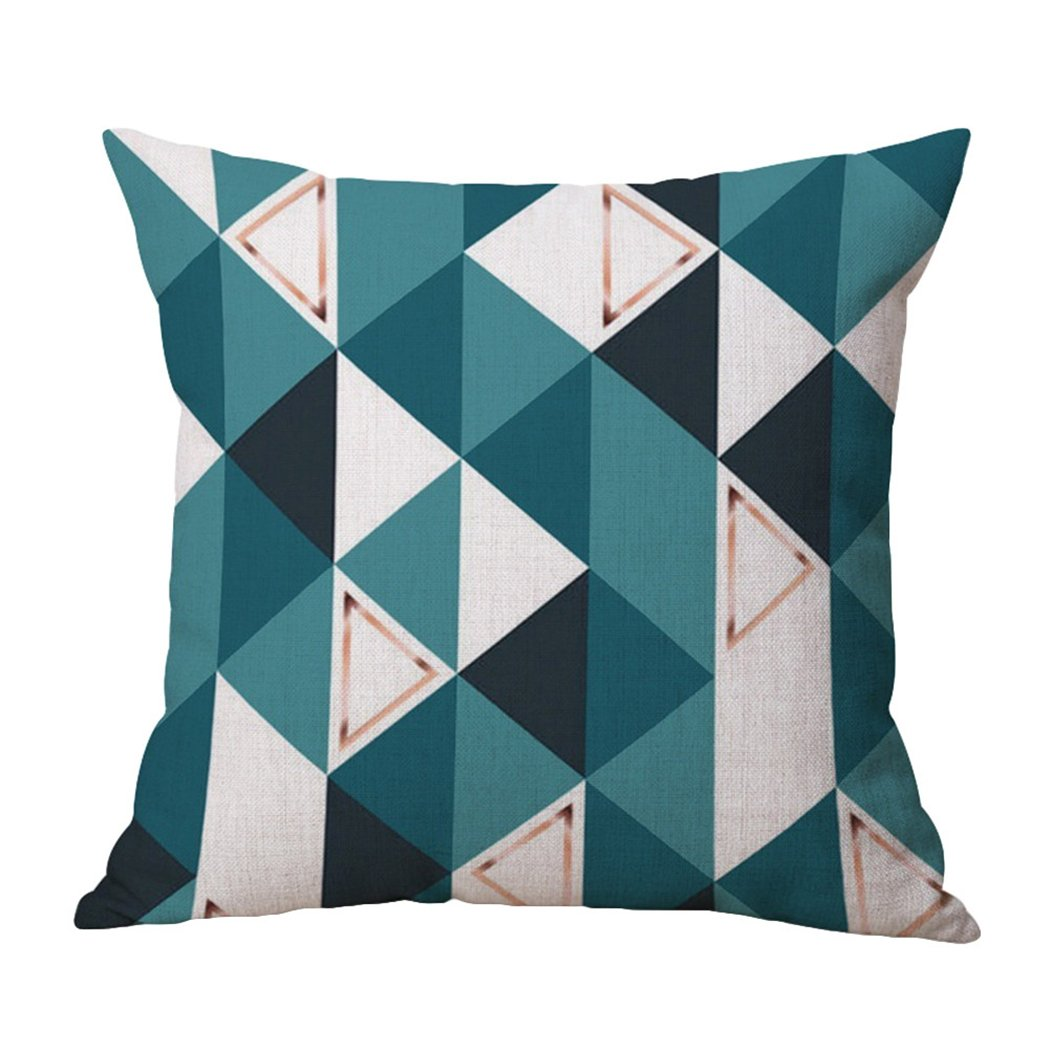 JIACHENG29Modern Style lino federa divano letto piazza gettare cuscino Home Decor, Lino, 1#, taglia unica