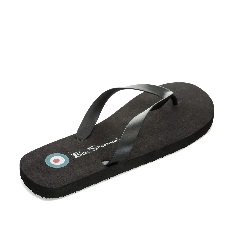 Ben Sherman Mens Falmouth Flip Flops UK 9 Black