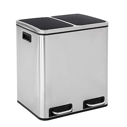 Amazon.com: YLJYJ - Cubo de basura de reciclaje, 30 L, para ...