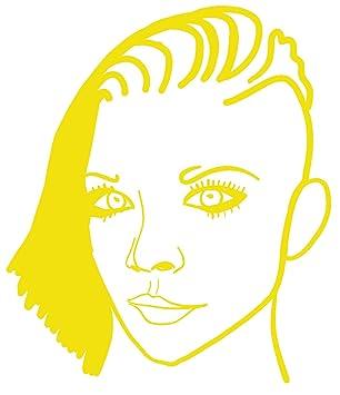 Amazon.com hBARSCI Girl with Side Undercut Sketch Vinyl