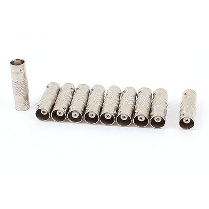 BNC hembra CCTV RG59 Cable Coaxial adaptador conector 10 piezas