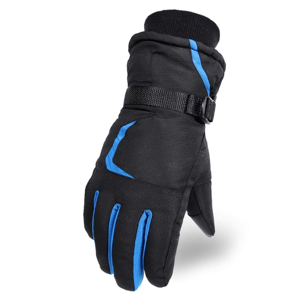 YSNBM Gloves Ski Gloves | Winter Touch Screen Plus Velvet Thick Full Finger Motorcycle Mittens Windproof Waterproof Cotton Ski Gas Station,Dry Ice,Cold Storage,Industrial Glove (Color : Blue)
