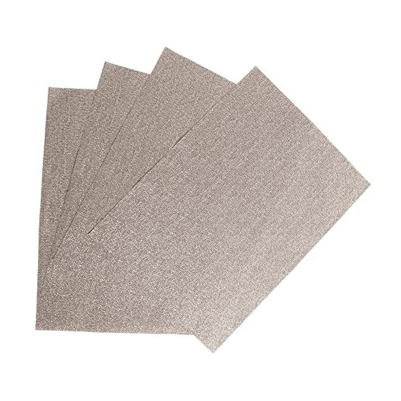 Creative Dining Group Glamour Woven Vinyl Placemat (Set of 4), Gold - BEAUTIFUL, SHINY, WOVEN VINYL PLACEMATS HAT ARE PERFECT FOR EVERYDAY USE Elegant high quality vinyl placemats that are very easy to clean. FUN, CREATIVE BRIGHTS AND NEUTRAL COLORS THAT ARE PERFECT FOR YOUR DÉCOR! - placemats, kitchen-dining-room-table-linens, kitchen-dining-room - 618PRD2oZ1L. SS570  -