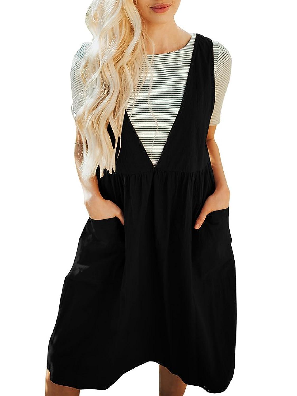 b762e4418440 ♢Material  sleeveless jumper dress is made of 100% cotton
