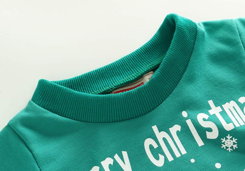 1ebab2bd1f Cartoon Weihnachten Print Pullover Tops Kleinkind Kinder Baby Boy  Langarmshirts JERFER Kinderkleidung.2 größeres Bild
