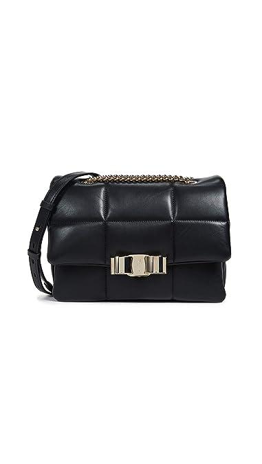 3bdde8cb38f3 Amazon.com  Salvatore Ferragamo Women s Vara Soft Shoulder Bag