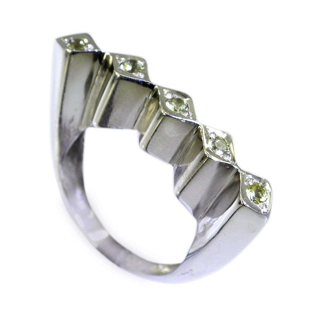 55Carat Real Peridot Ring For Women Astrological August Birthstone Handmade Size 4,5,6,7,8,9,10,11,12