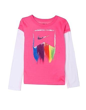 Nike Action Girls Knit Top Pink White Amazon Clothing