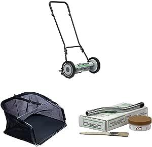 American Lawn Mower Company 1815-18 18-Inch Push Reel Lawn Mower & Sharpening Kit & Grass Catcher Bundle