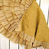 48 inch Round Ruffled Burlap Christmas Tree Skirt by Jubilee Creative Studio