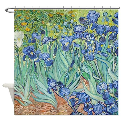 CafePress Irises by Vincent Van Gogh Decorative Fabric Shower Curtain ()