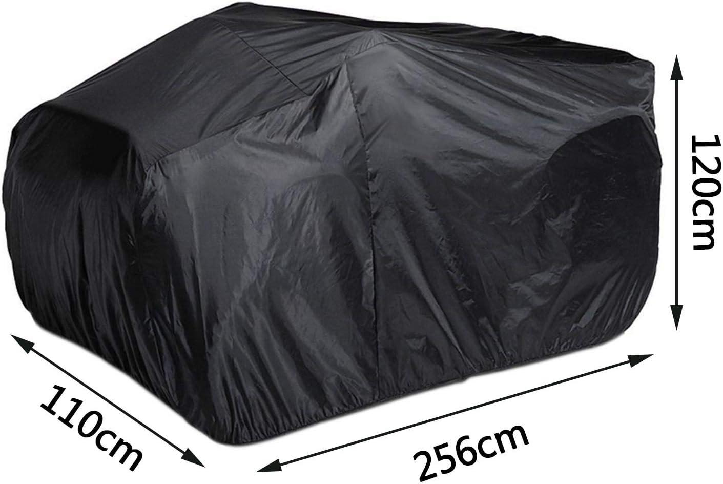 Dustproof Beach Quad Bike ATV Cover Case with Storage Bag Durable Outdoor Portable for 250-1000CC Black 256x120x110cm
