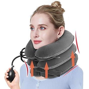 NEW Tracción Cervical Collar Cervical Inflable Cuello de Vértebra ...