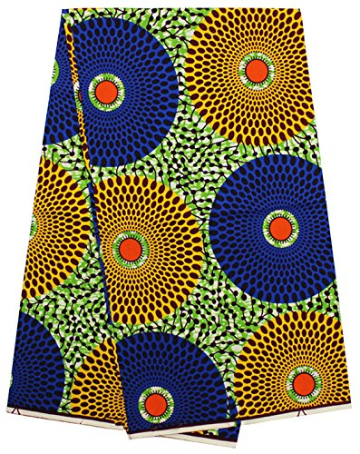 Ankara Fabric African Print Clothing Designs African batik wax Fabrics 6 Yards for sewing african - Skyfall Style