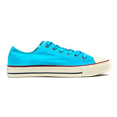 Converse Womens Chuck Taylor Washed Low Top Sneaker Peacock Blue Wash 5 M