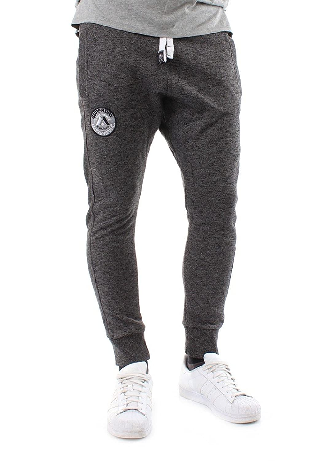 Superdry Jogginghose Men MASTER BRAND JOGGER Low Light Black Mega Grit