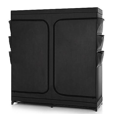 Amazon.com: ikayaa tela clóset ropero gabinete grande ...