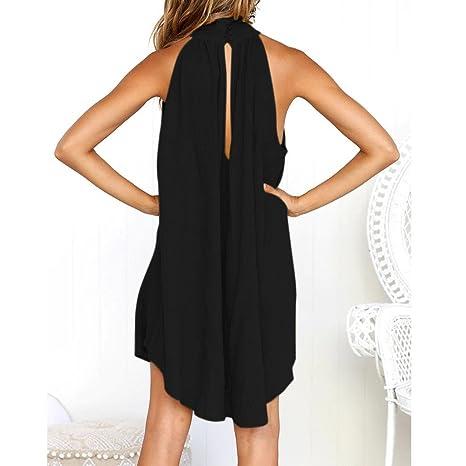 6ccfbc9027 Amazon.com  Women Halter Dress