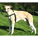 Anti Pull, Front Leading Harness fitting dogs weighing between 25 - 65 Lbs (11 - 29 kg) Girth Size 21 - 32 inches (53 - 81 cms) BLACK