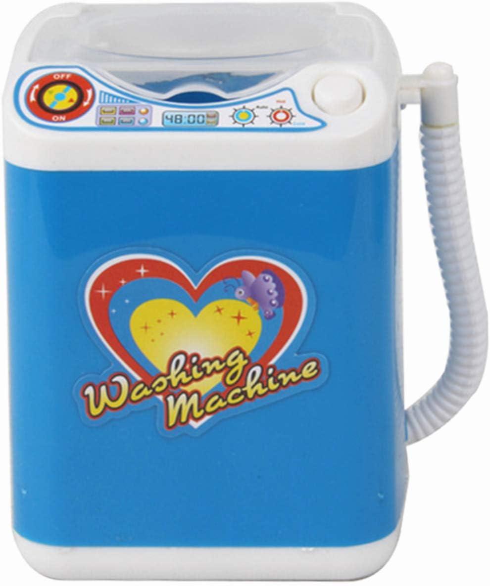 Youliy Electronic Mini lavadora - Limpiador de brochas de maquillaje eléctrico máquina - Limpiador automático de brochas de maquillaje seca cepillos de limpieza profunda esponja polvo Puff Toy B