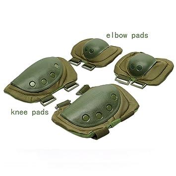 Militar rodilleras y coderas almohadillas adultos para trabajo Airsoft construcción limpieza jardinería y suelos con apoyo ...